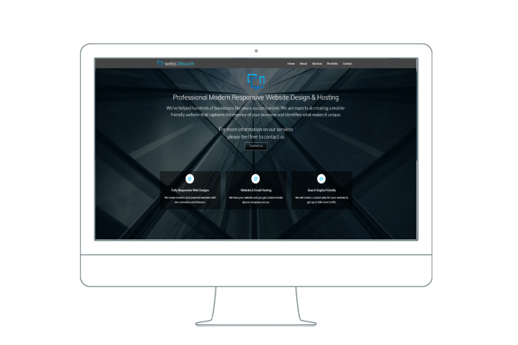 responsive website for desktop computer